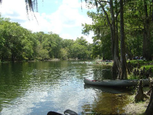 Vacationing on the Santa Fe River in North Florida